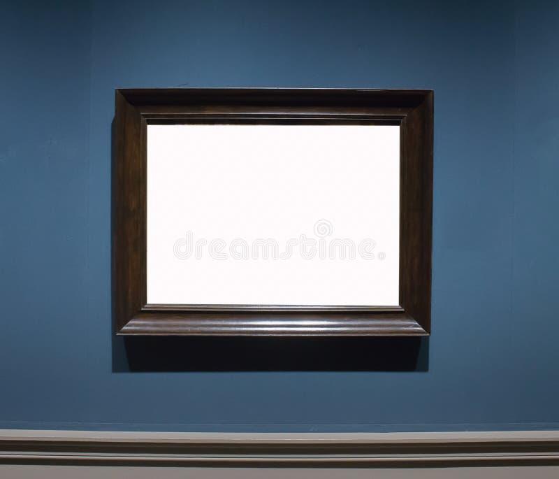 Um quadro de madeira Art Gallery Museum Exhibit Blank W da imagem ornamentado imagens de stock royalty free