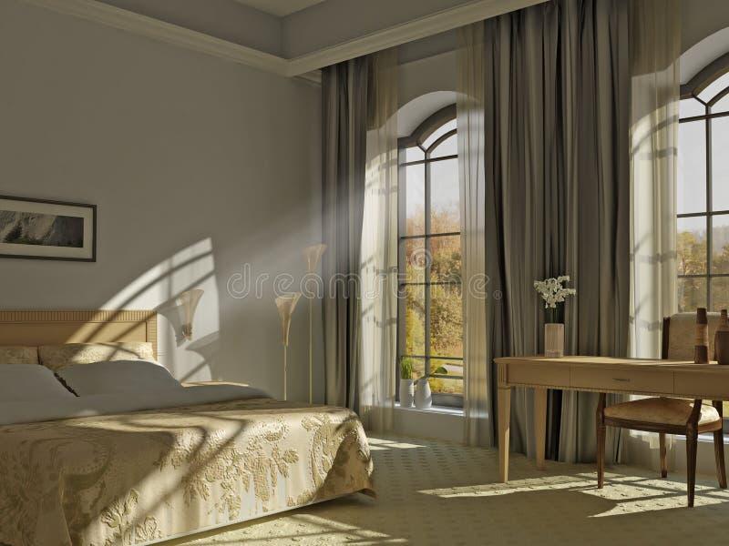 Um quarto ensolarado ilustração royalty free