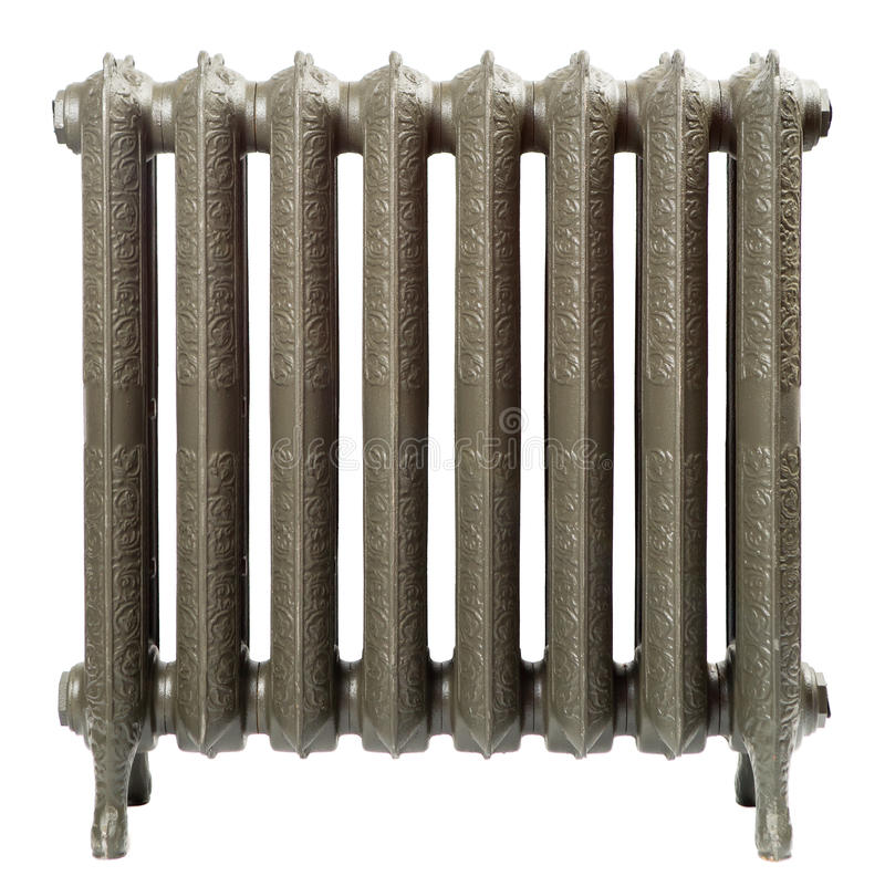 Um radiador do ferro de molde foto de stock
