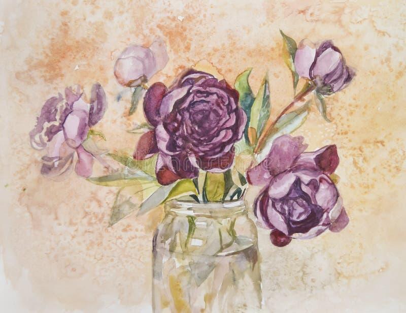 Um ramalhete luxúria com a peônia bonita deliciosa floresce imagens de stock