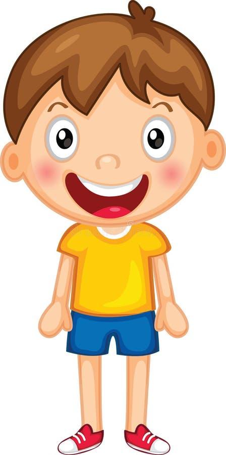 Um rapaz pequeno ilustração royalty free