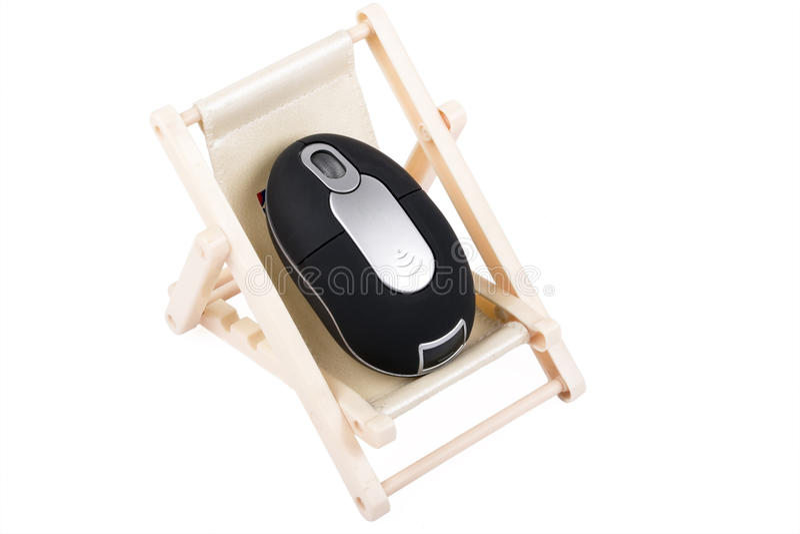 Um rato do computador no descanso imagem de stock royalty free