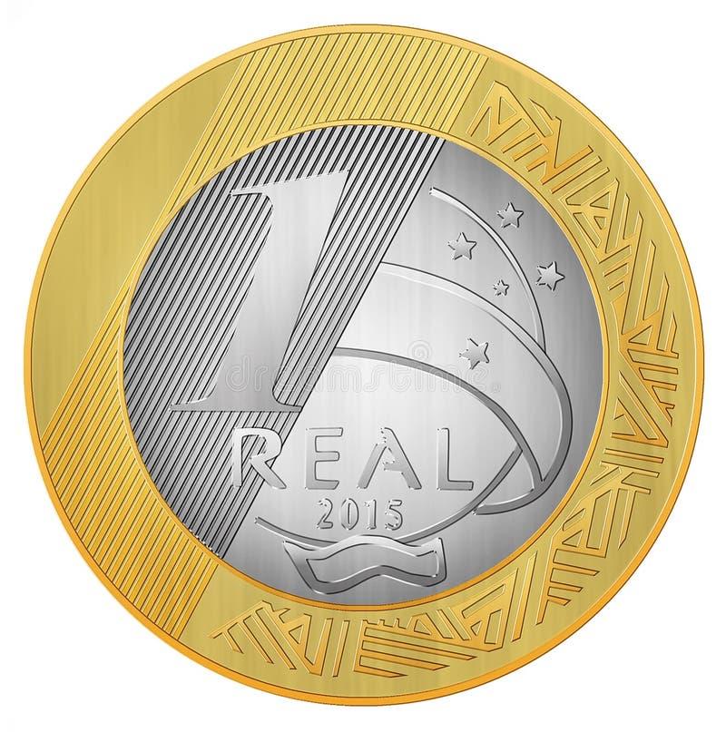 Um real brasileiro ilustração royalty free