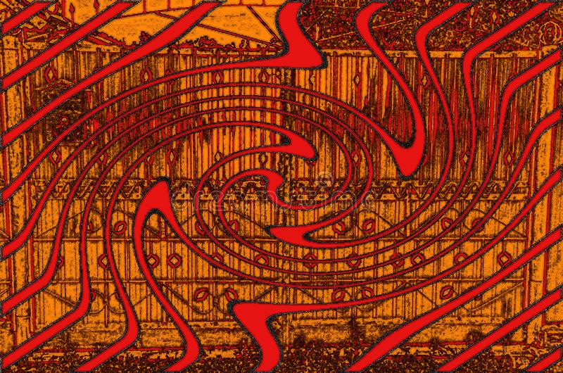 Um recurso gráfico abstrato consiste em fragmentos complexos ilustração royalty free