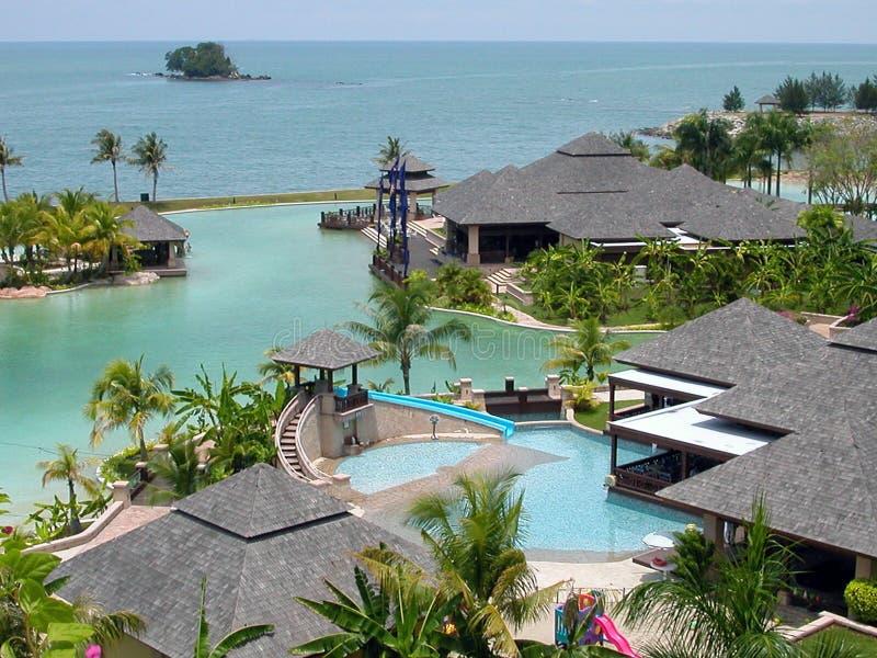 Um recurso tropical foto de stock