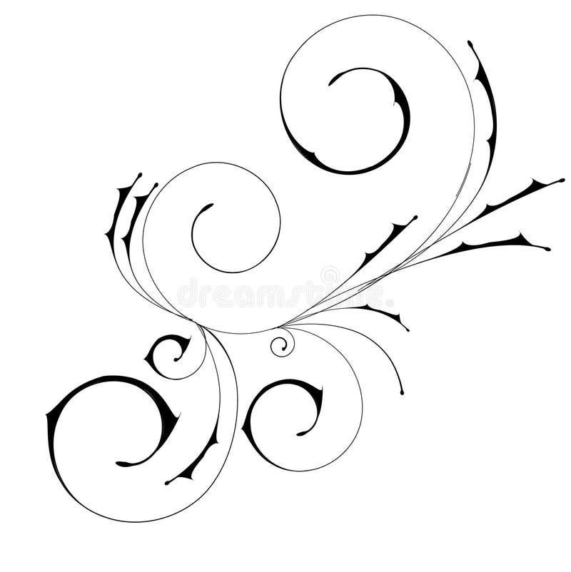 Um redemoinho decorativo abstrato bonito ilustração royalty free