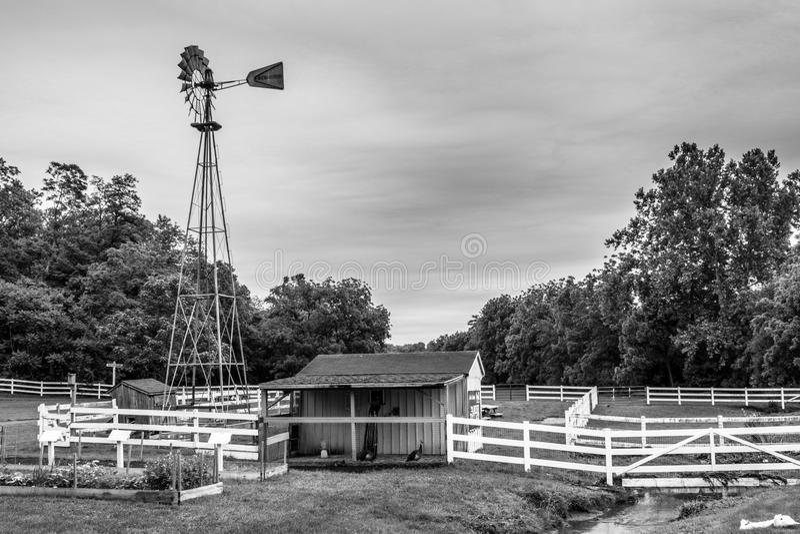 Um relance do estilo de vida tradicional na vila de Amish, Pensilvânia foto de stock