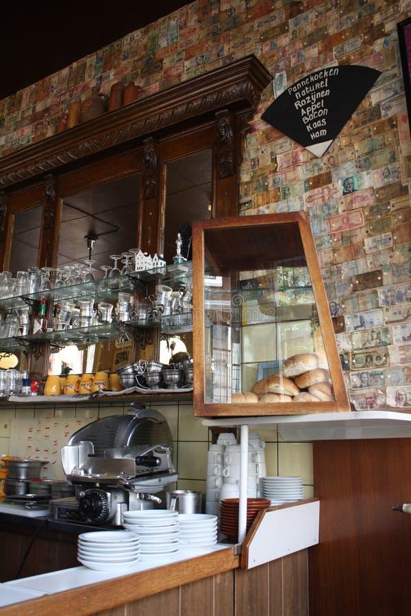 Um restaurante em Amsterdão fotos de stock royalty free