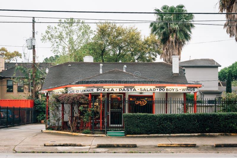 Um restaurante em Montrose, Houston, Texas imagem de stock royalty free