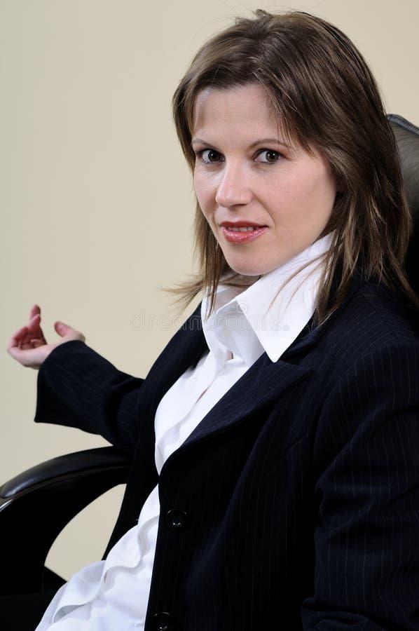 Um retrato da mulher de negócio foto de stock