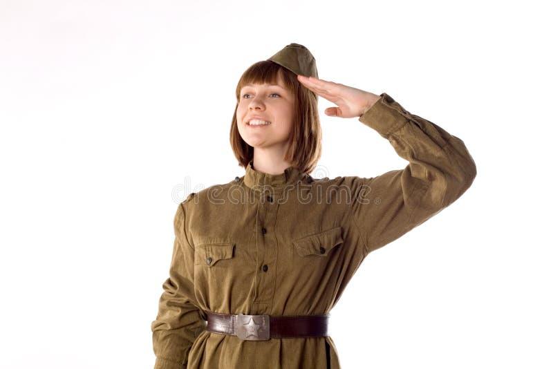 Um retrato de um soldado fotos de stock