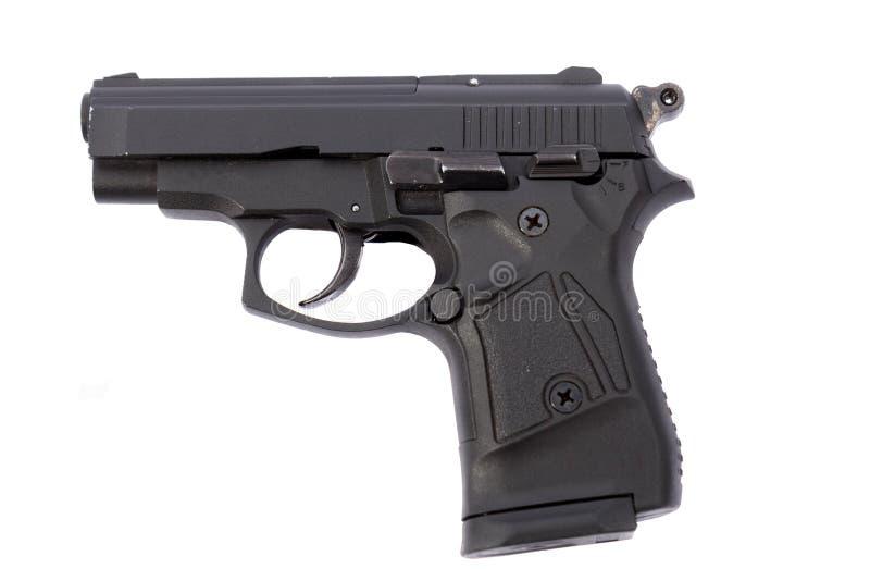 Um revólver preto fotos de stock