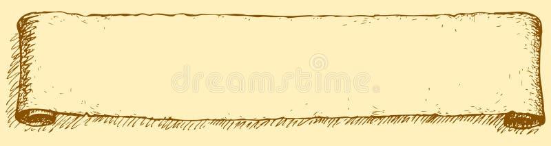 Um rolo longo Desenho do vetor ilustração do vetor