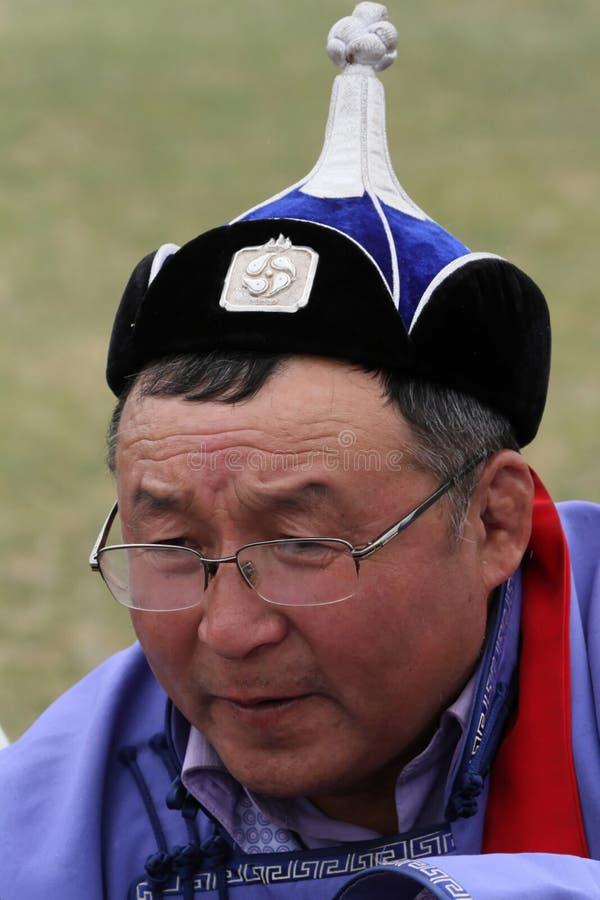 Um sênior do mongolian imagens de stock royalty free