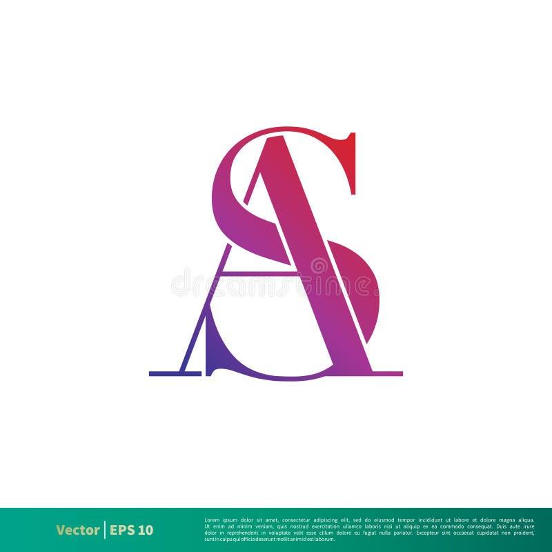 Um S ou da letra de S A vetor Logo Template Illustration Design Vetor EPS 10 ilustração do vetor