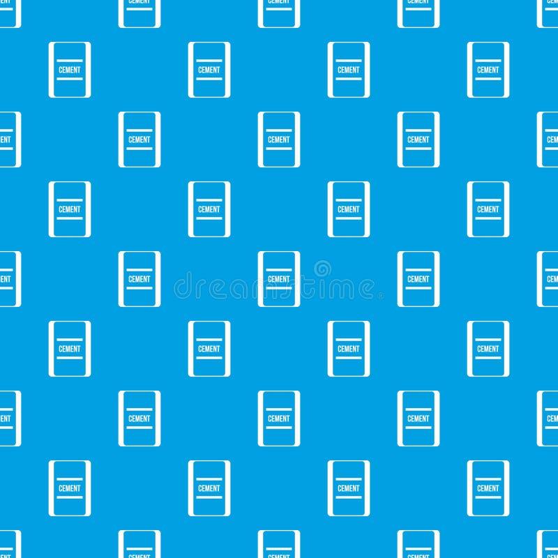 Um saco do azul sem emenda do teste padrão do cimento ilustração do vetor