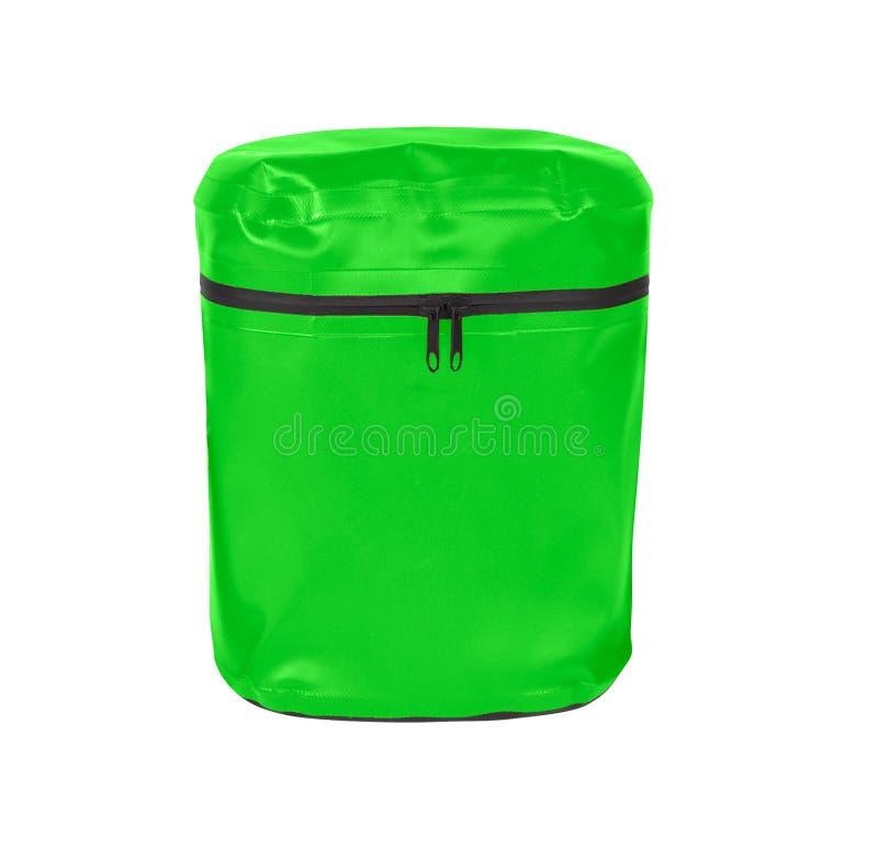 Um saco verde pequeno do estilingue foto de stock