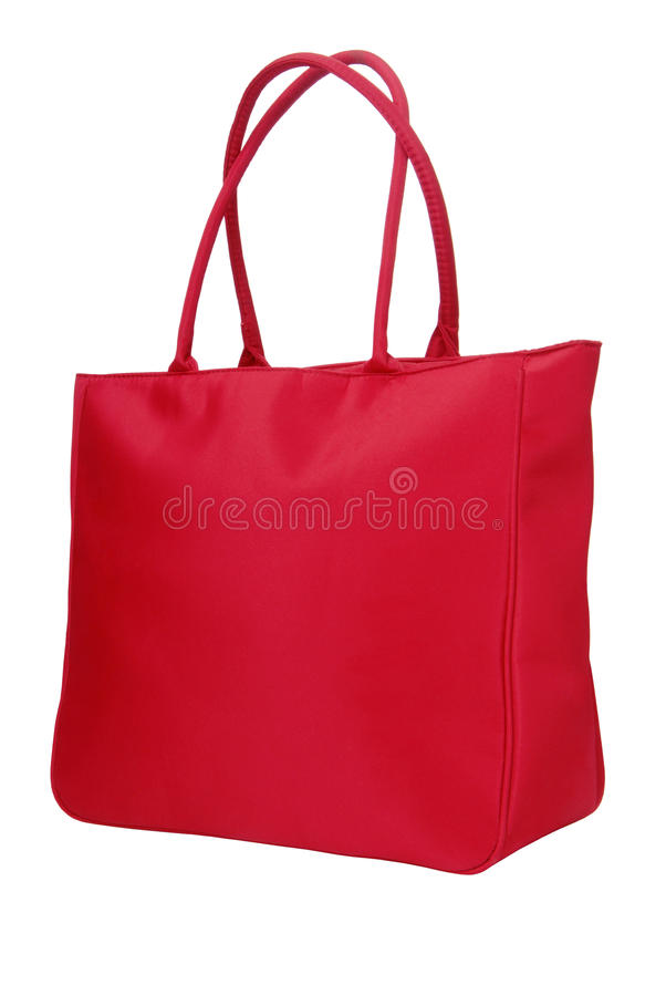 Um saco vermelho de pano imagens de stock