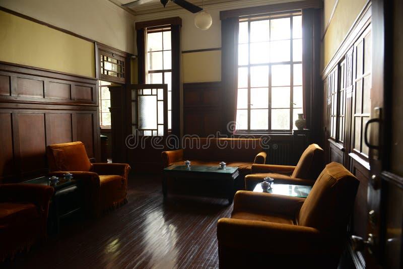 Um sala-presidente pequeno Escritório-China Nanjing da recepção fotografia de stock