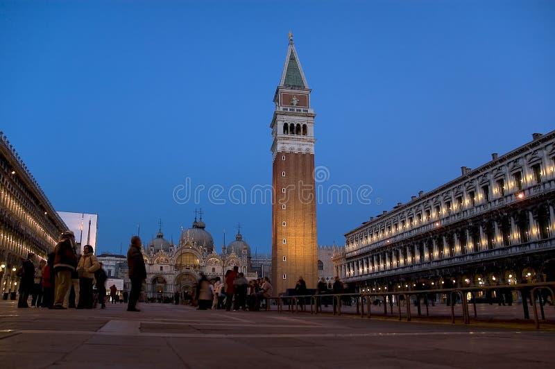 Um San Marco, Venedig stockbild