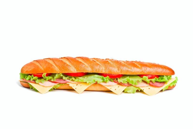Um sanduíche do baguette fotografia de stock