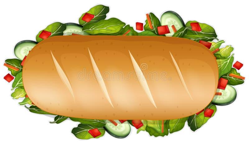 Um sanduíche saudável no fundo branco ilustração do vetor