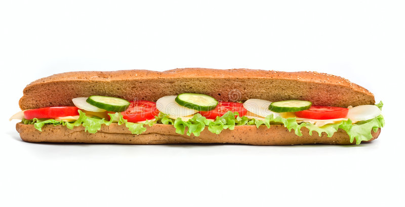 Um sanduíche vegetal saudável fotografia de stock