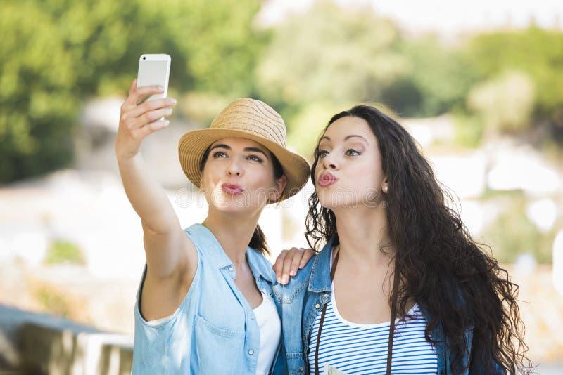 Um Selfie durante férias fotos de stock