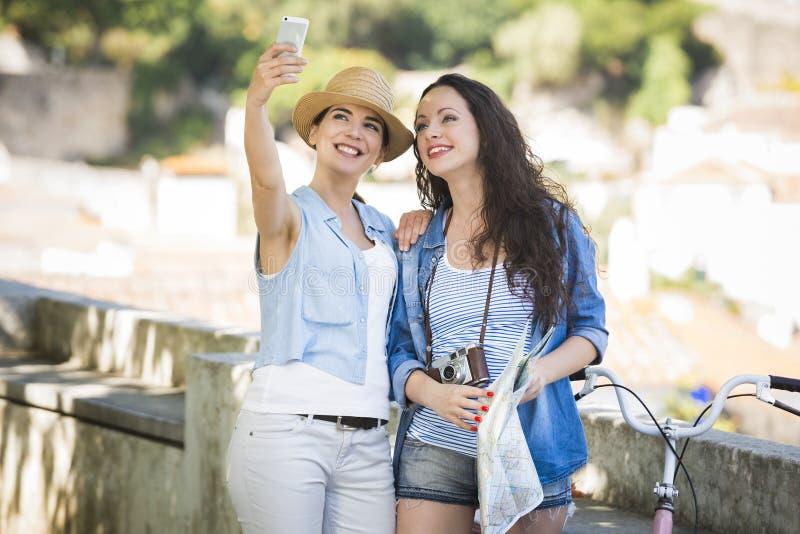 Um Selfie durante férias fotografia de stock royalty free