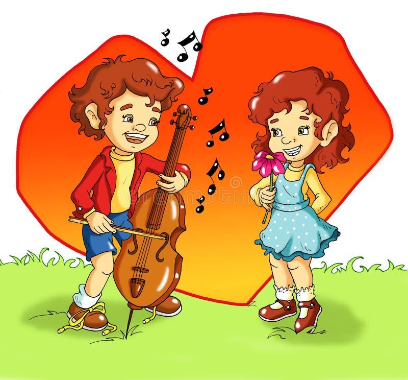 Um serenade doce ilustração stock