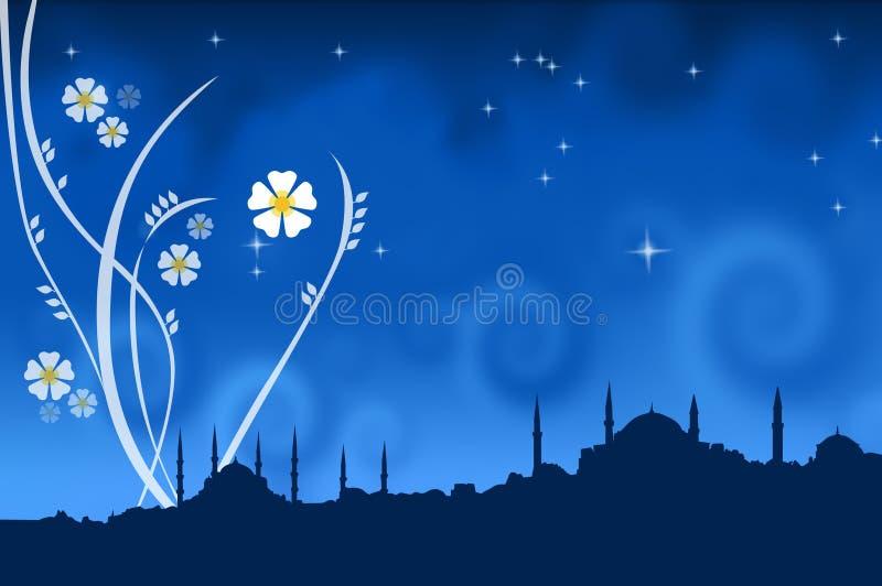 Um silhoutte de Istambul ilustração stock