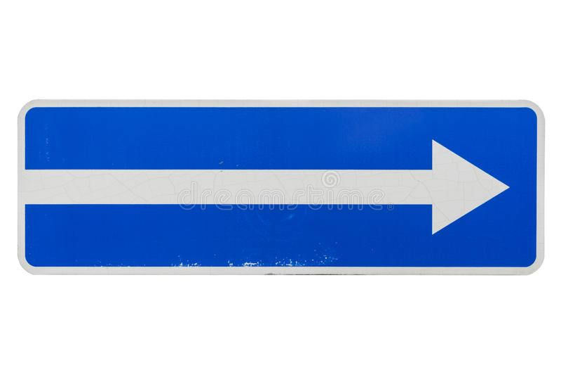 Um sinal de estrada da rua de maneira isolado no branco fotos de stock royalty free