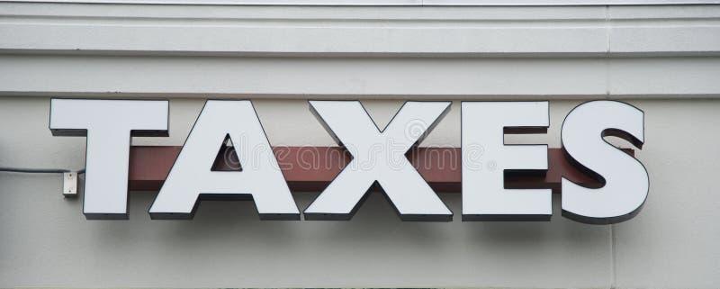 Um sinal de Preparação Empresa do imposto imagem de stock