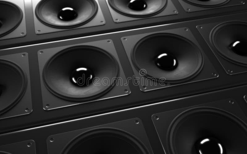 Um sistema audio poderoso ilustração do vetor