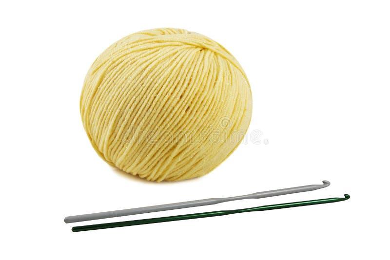 Assuntos para o crochet imagem de stock royalty free