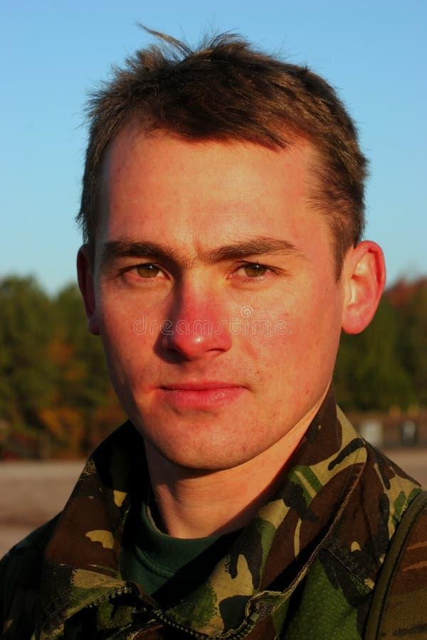 Um soldado novo fotografia de stock royalty free
