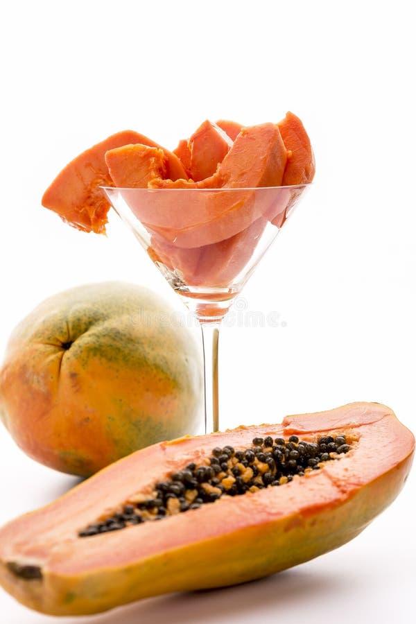 Um sonho das caraíbas - o fruto do mamão imagens de stock