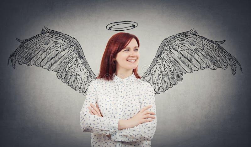 Um sonho do anjo imagens de stock