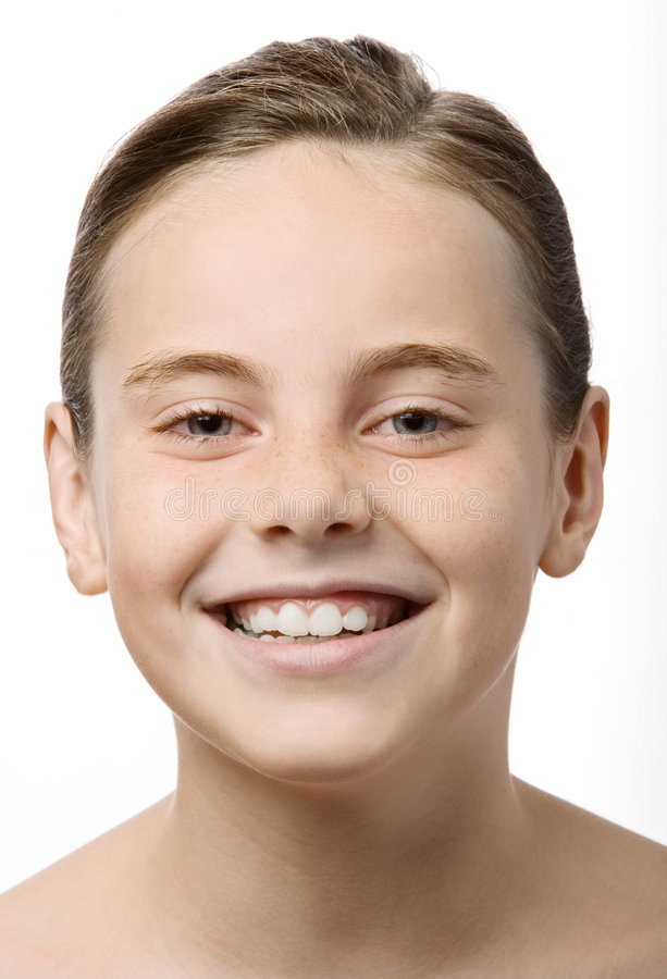 Um sorriso adolescente imagens de stock