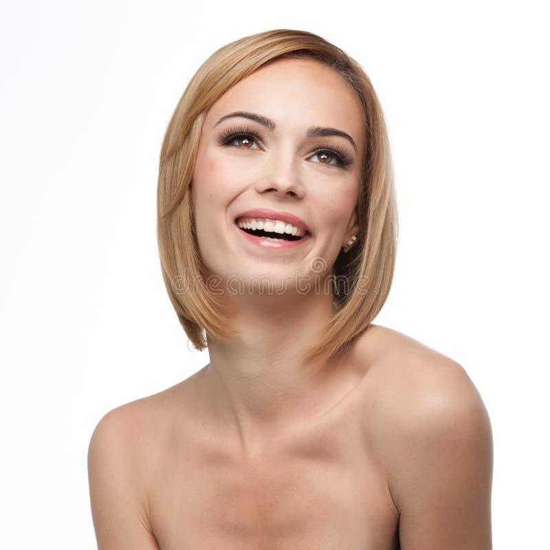 Um sorriso bonito com composição natural imagem de stock royalty free