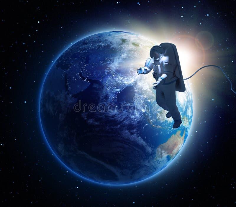 Um spacewalk do astronauta ilustração royalty free