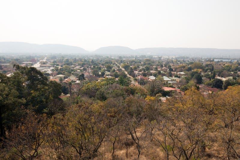 Um subúrbio luxúria de Pretoria, África do Sul foto de stock