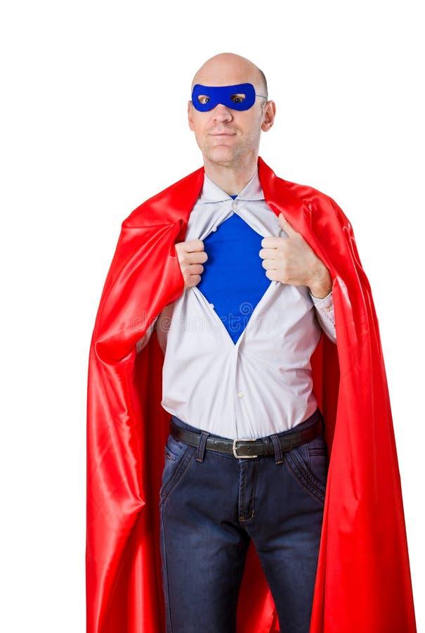 Um super-herói fotografia de stock