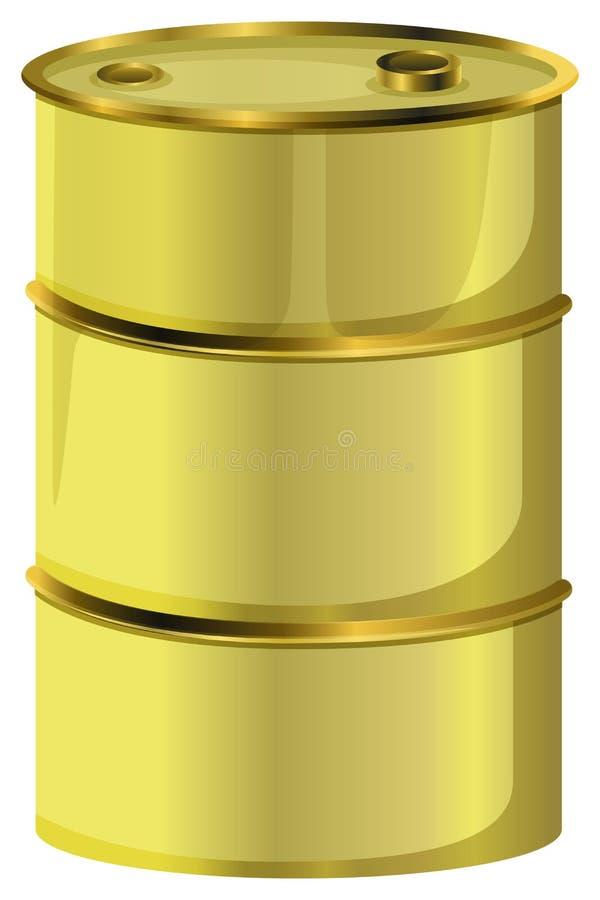 Um tambor de óleo ilustração royalty free