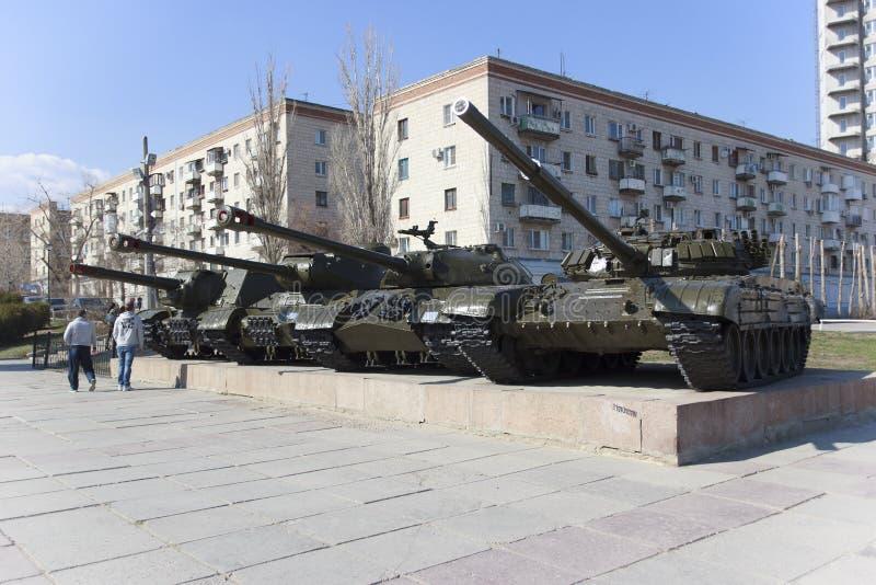Um tanque soviético Volgograd Rússia imagem de stock royalty free