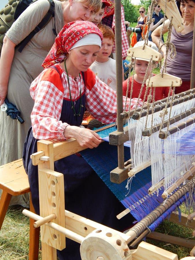 Um tecelão Uma lição na tecelagem