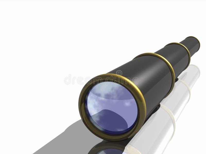 Um telescópio de um pirata ilustração do vetor