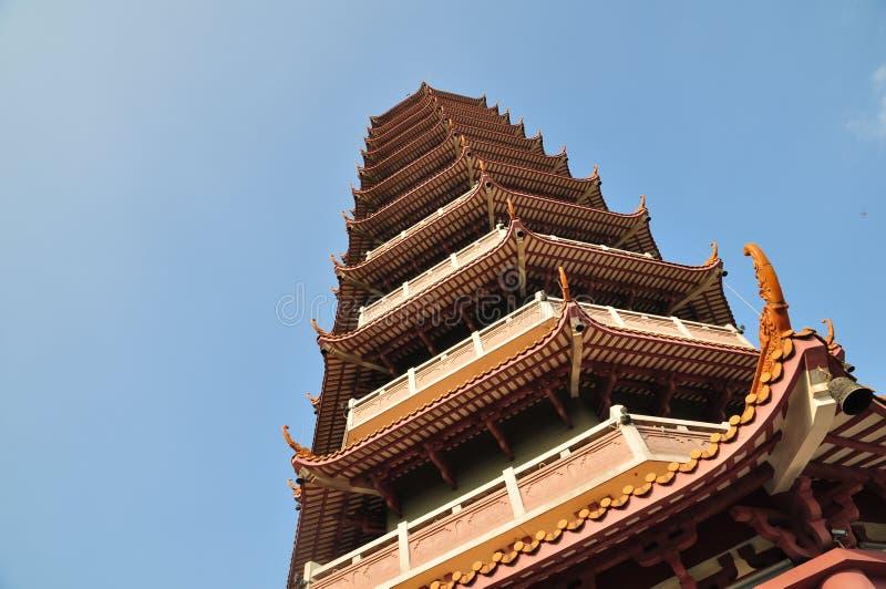Um telhado do templo de China imagens de stock royalty free