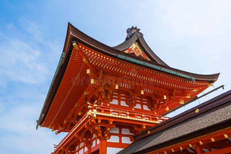 Um templo de Kyoto fotografia de stock