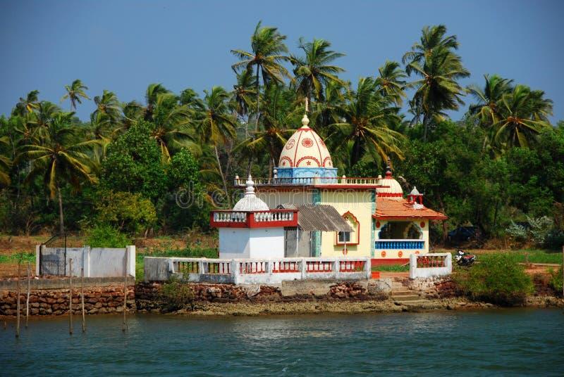 Um templo hindu em Candolim foto de stock